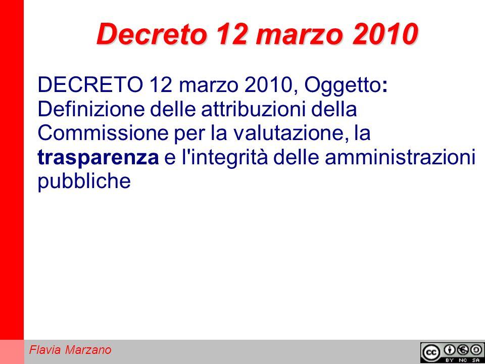 Decreto 12 marzo 2010