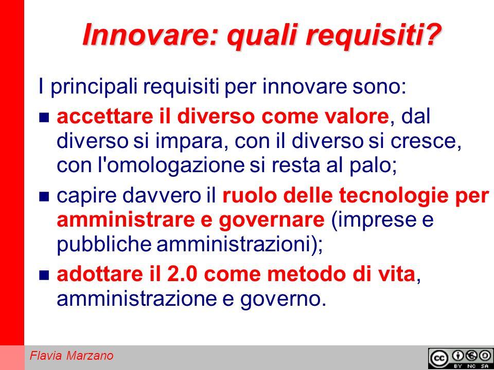 Innovare: quali requisiti