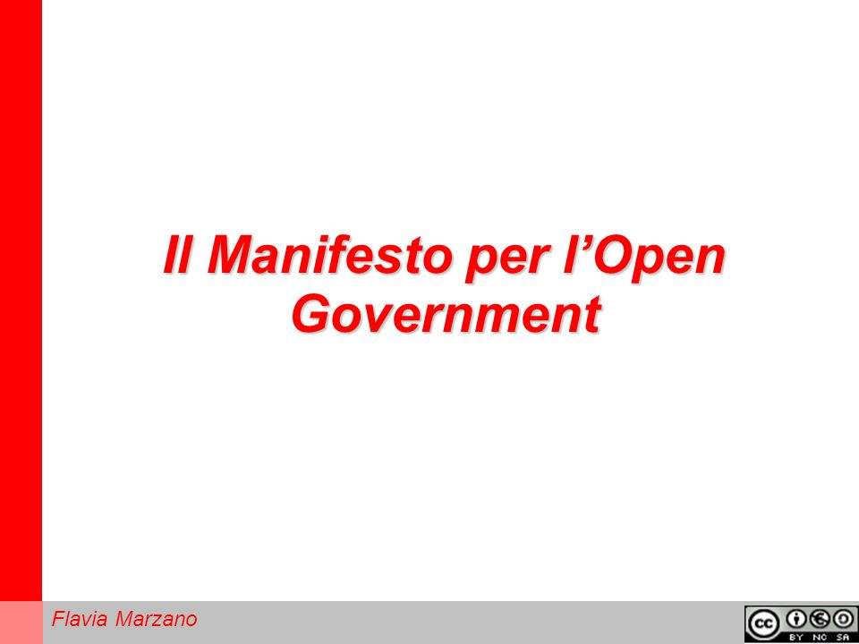 Il Manifesto per l'Open Government