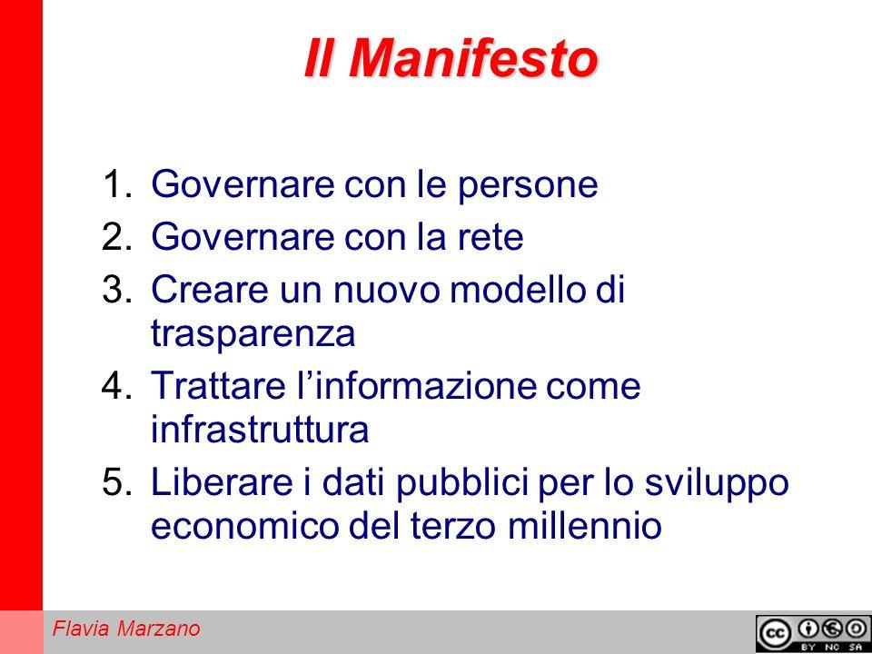 Il Manifesto Governare con le persone Governare con la rete