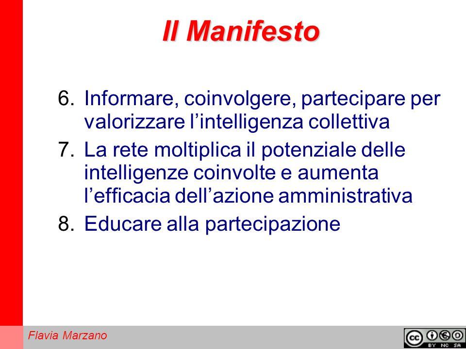 Il Manifesto Informare, coinvolgere, partecipare per valorizzare l'intelligenza collettiva.