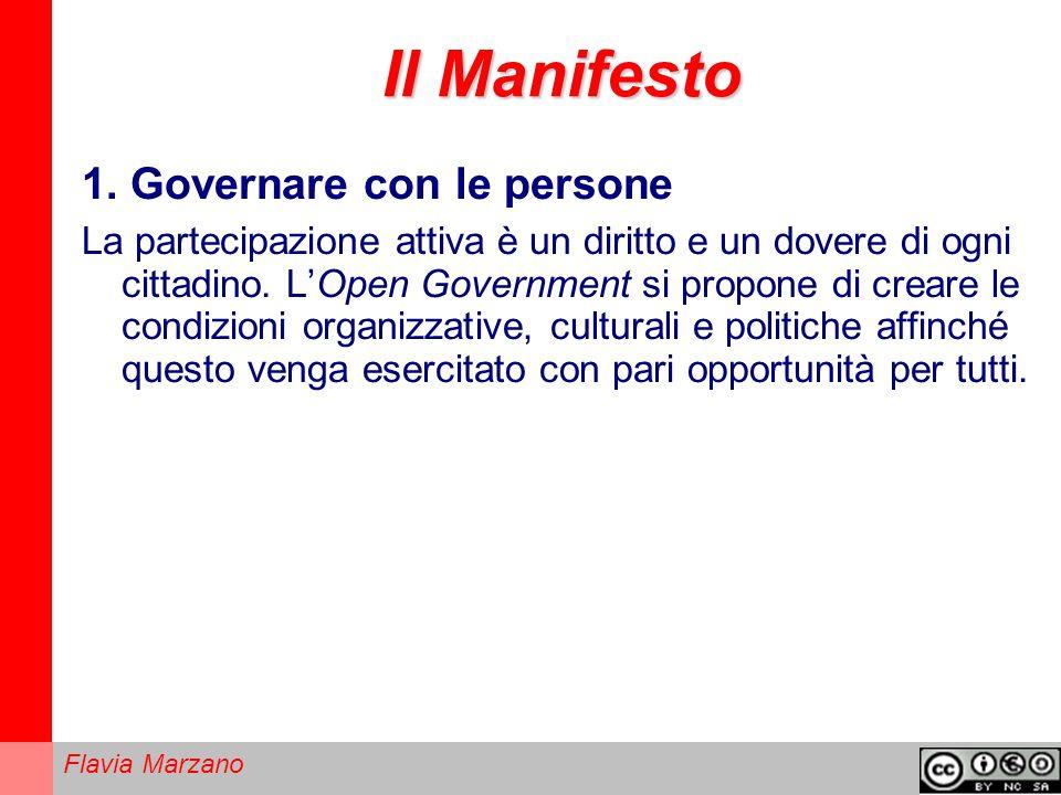 Il Manifesto 1. Governare con le persone