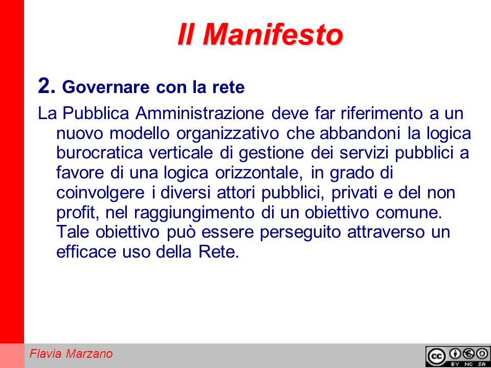 Il Manifesto 2. Governare con la rete