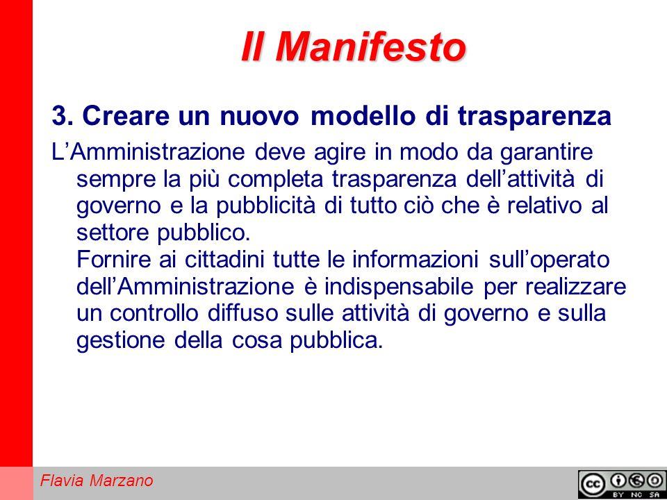 Il Manifesto 3. Creare un nuovo modello di trasparenza