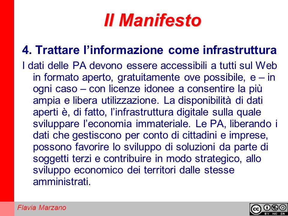 Il Manifesto 4. Trattare l'informazione come infrastruttura