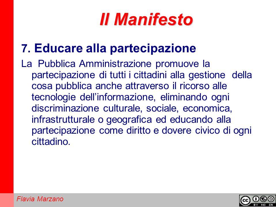 Il Manifesto 7. Educare alla partecipazione