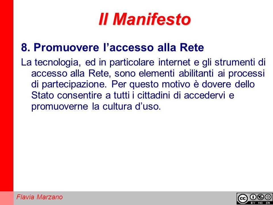 Il Manifesto 8. Promuovere l'accesso alla Rete