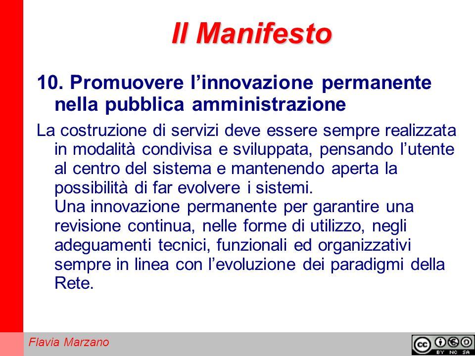 Il Manifesto 10. Promuovere l'innovazione permanente nella pubblica amministrazione.