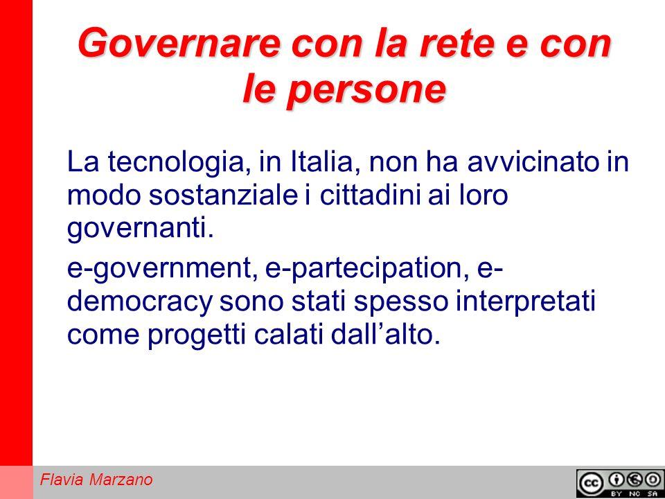 Governare con la rete e con le persone