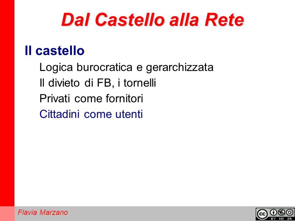 Dal Castello alla Rete Il castello Logica burocratica e gerarchizzata