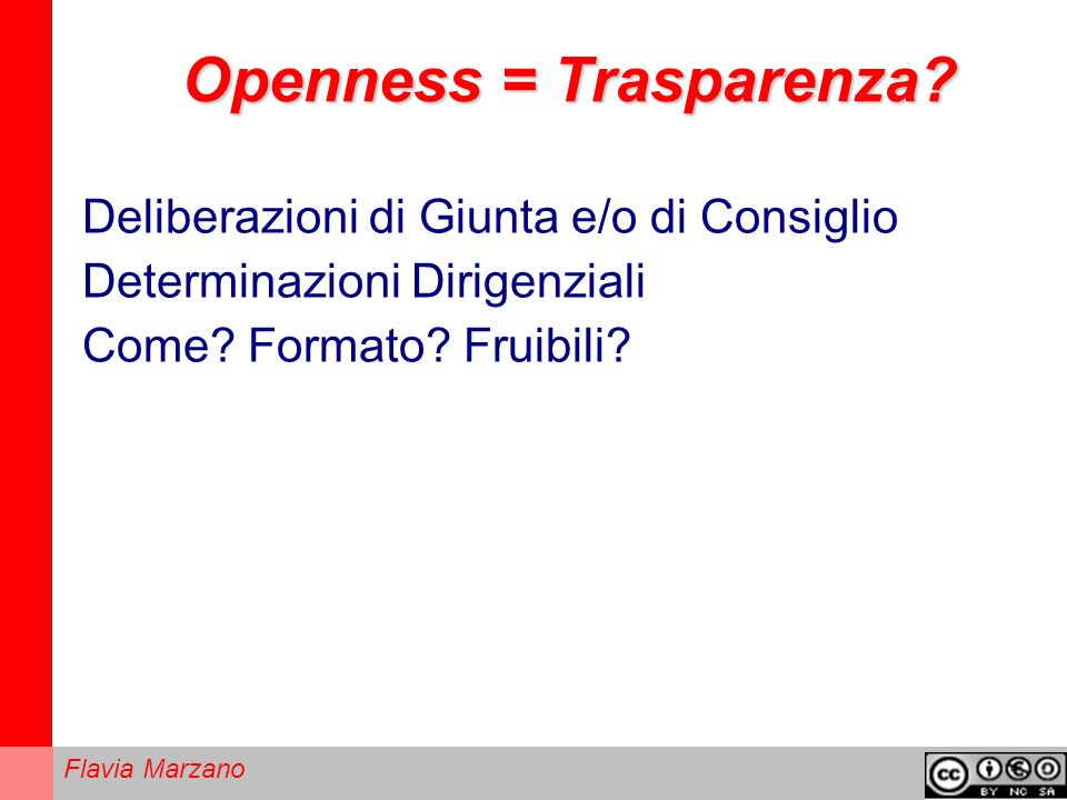 Openness = Trasparenza
