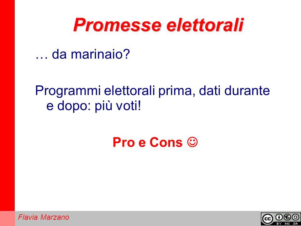 Promesse elettorali … da marinaio