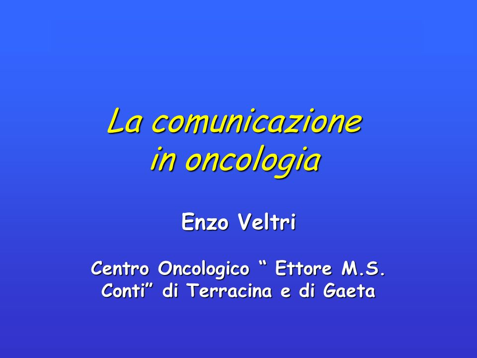 Centro Oncologico Ettore M.S. Conti di Terracina e di Gaeta