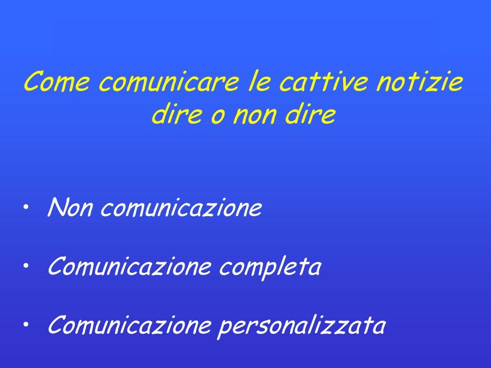 Come comunicare le cattive notizie