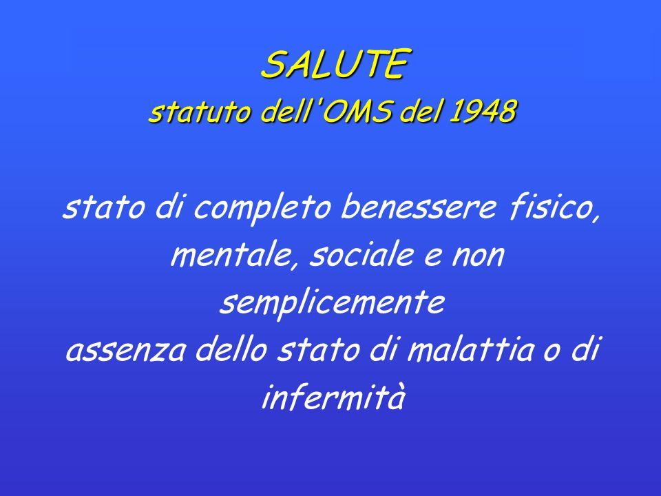 SALUTE statuto dell OMS del 1948