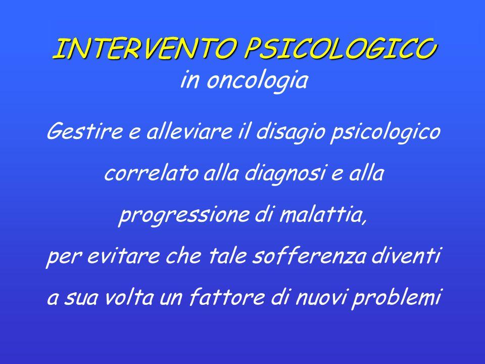 INTERVENTO PSICOLOGICO in oncologia