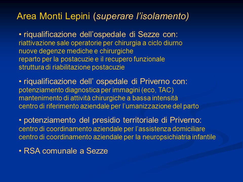 Area Monti Lepini (superare l'isolamento)