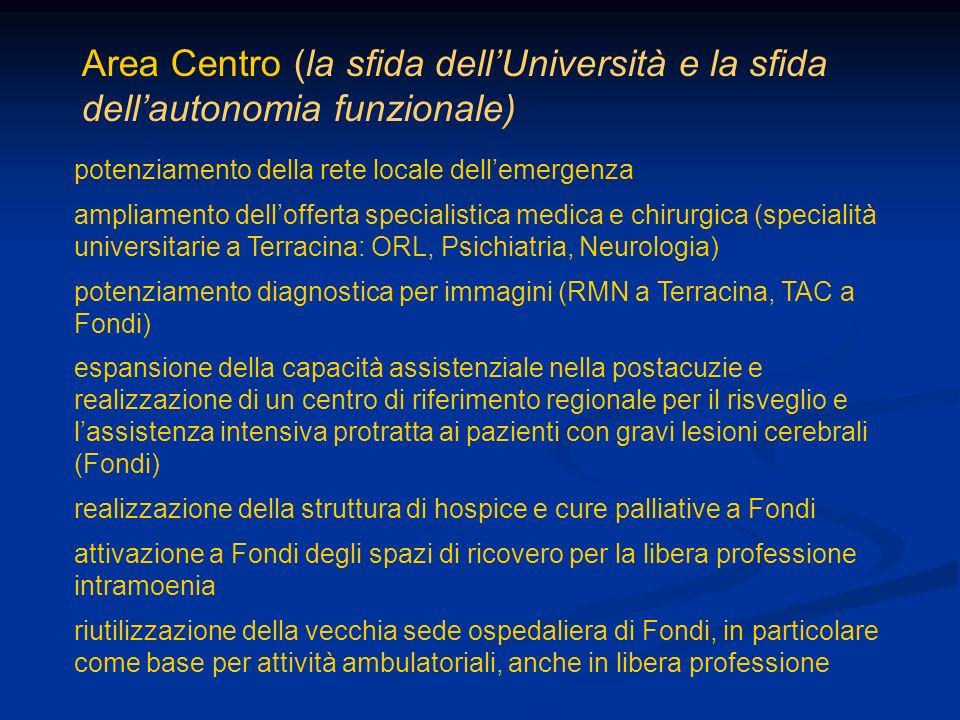 Area Centro (la sfida dell'Università e la sfida dell'autonomia funzionale)