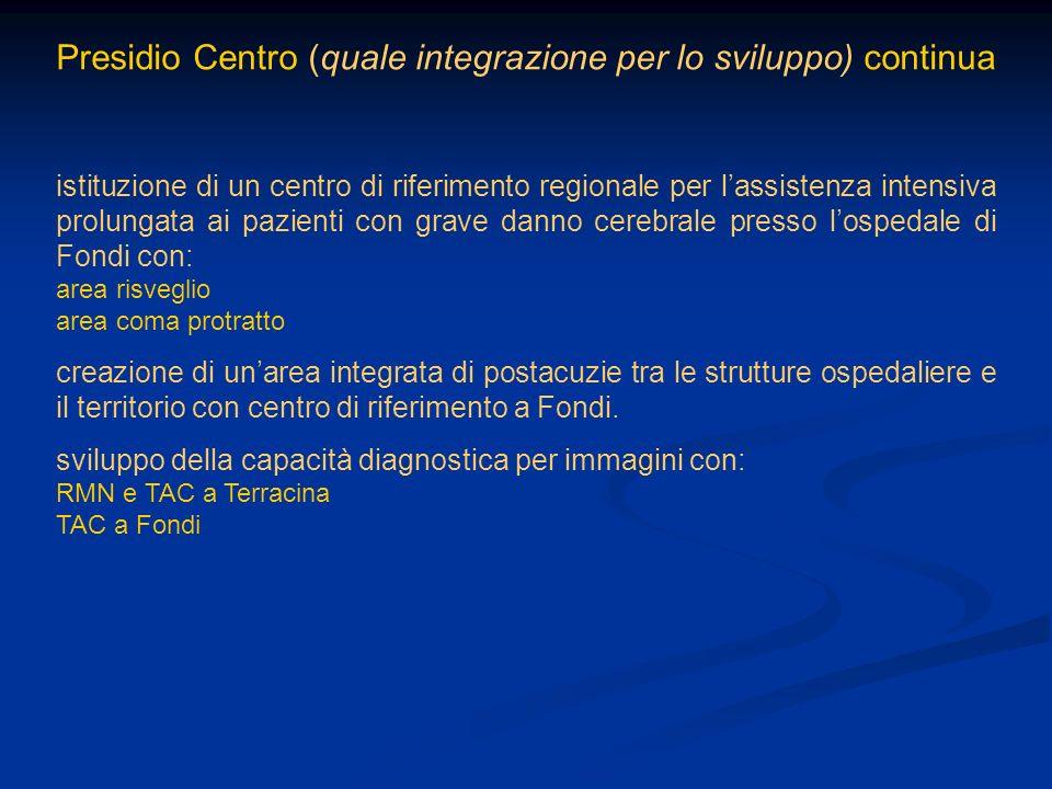 Presidio Centro (quale integrazione per lo sviluppo) continua