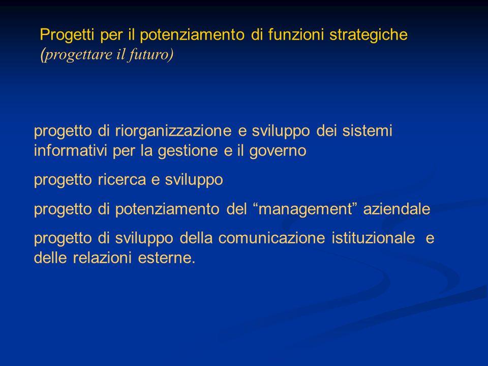 Progetti per il potenziamento di funzioni strategiche (progettare il futuro)