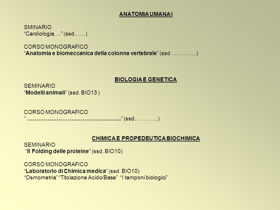 CHIMICA E PROPEDEUTICA BIOCHIMICA