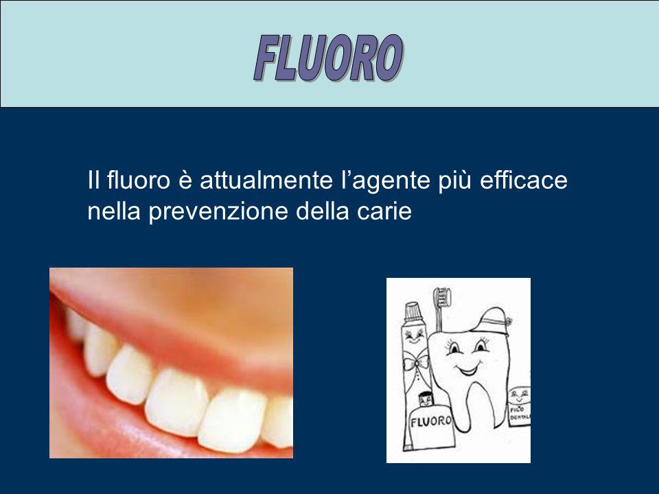 FLUORO Il fluoro è attualmente l'agente più efficace