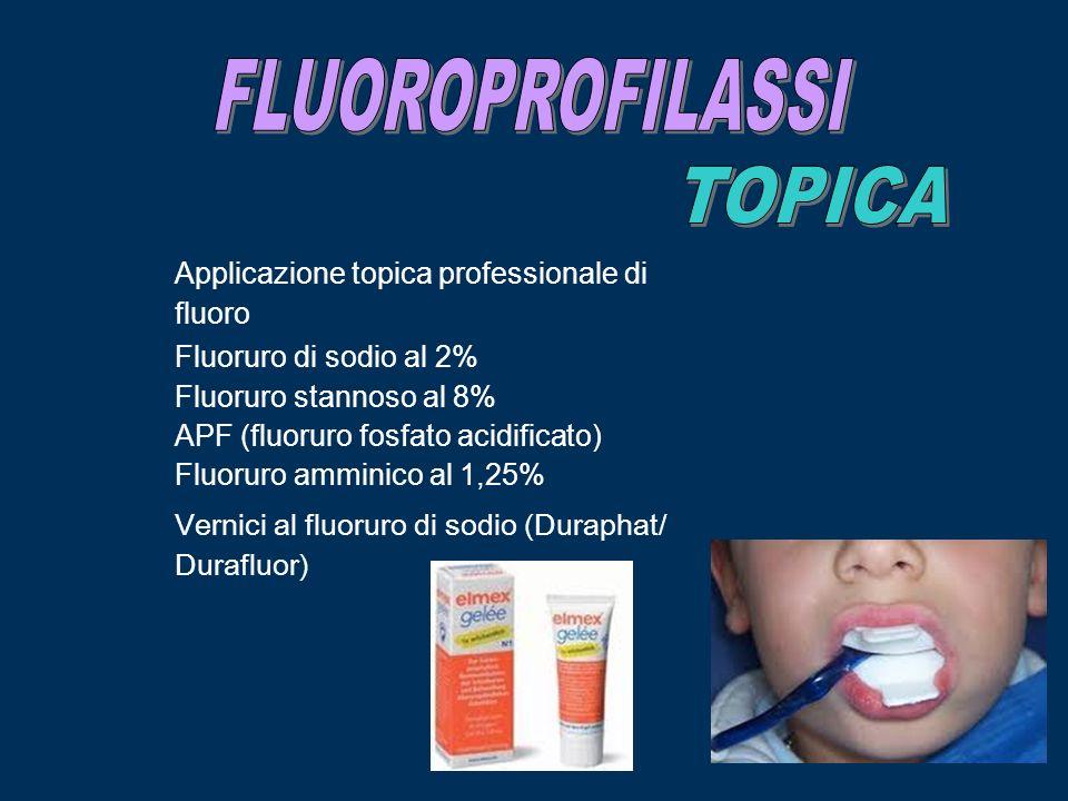 FLUOROPROFILASSI TOPICA Applicazione topica professionale di fluoro