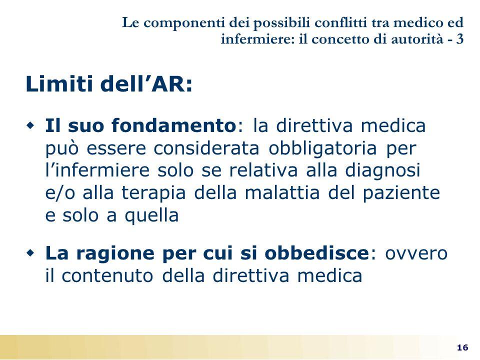 Le componenti dei possibili conflitti tra medico ed infermiere: il concetto di autorità - 3
