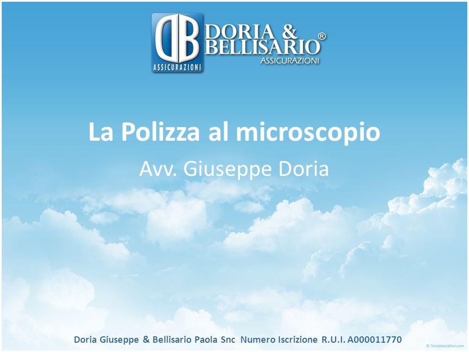 La Polizza al microscopio Avv. Giuseppe Doria