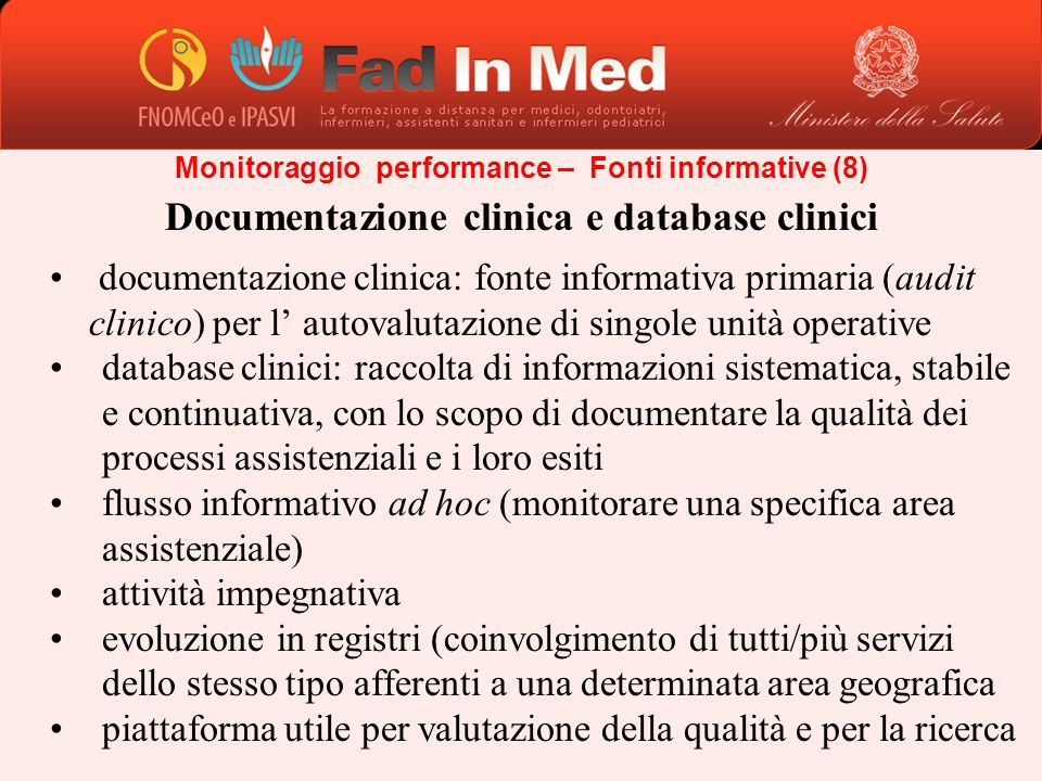 Documentazione clinica e database clinici