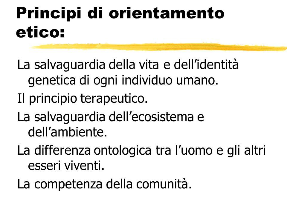 Principi di orientamento etico: