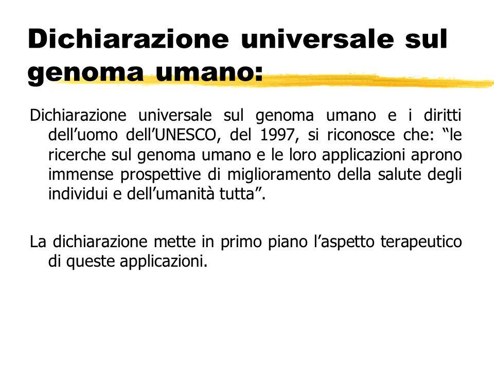 Dichiarazione universale sul genoma umano: