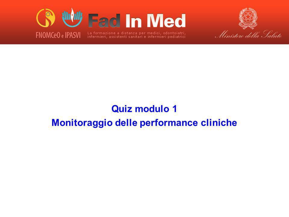 Monitoraggio delle performance cliniche
