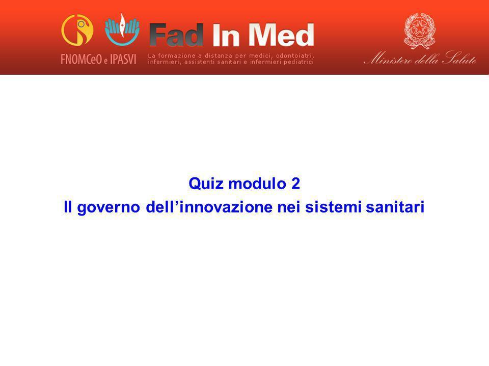 Il governo dell'innovazione nei sistemi sanitari