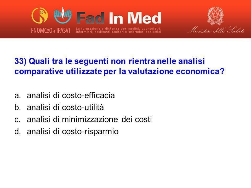 analisi di costo-efficacia analisi di costo-utilità