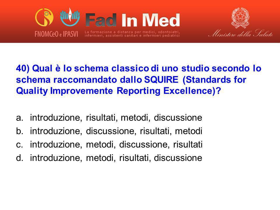introduzione, risultati, metodi, discussione