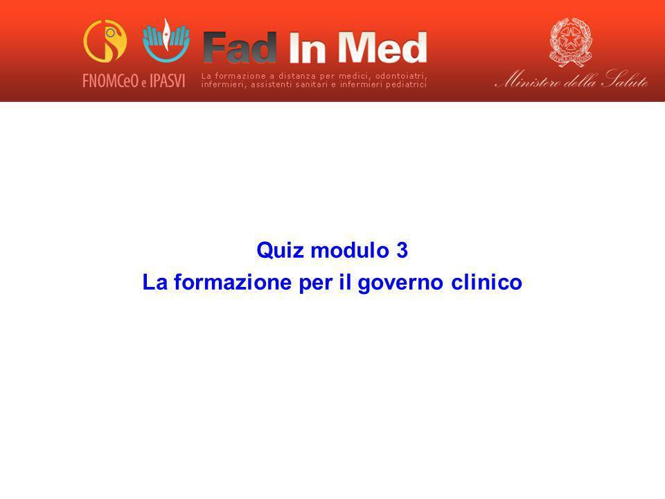 La formazione per il governo clinico