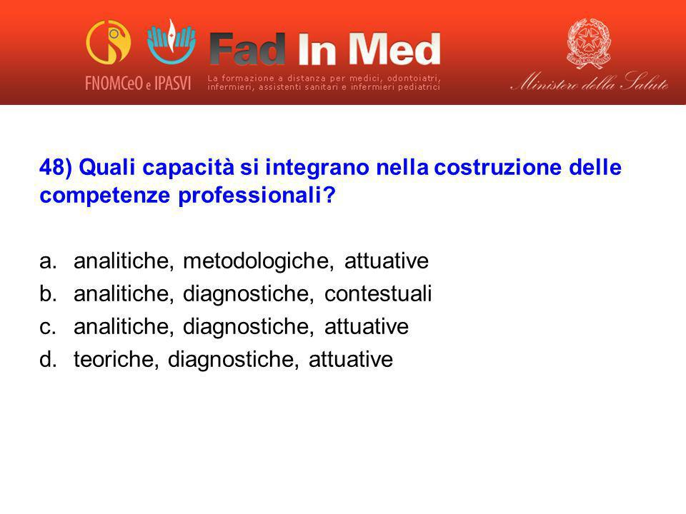 analitiche, metodologiche, attuative