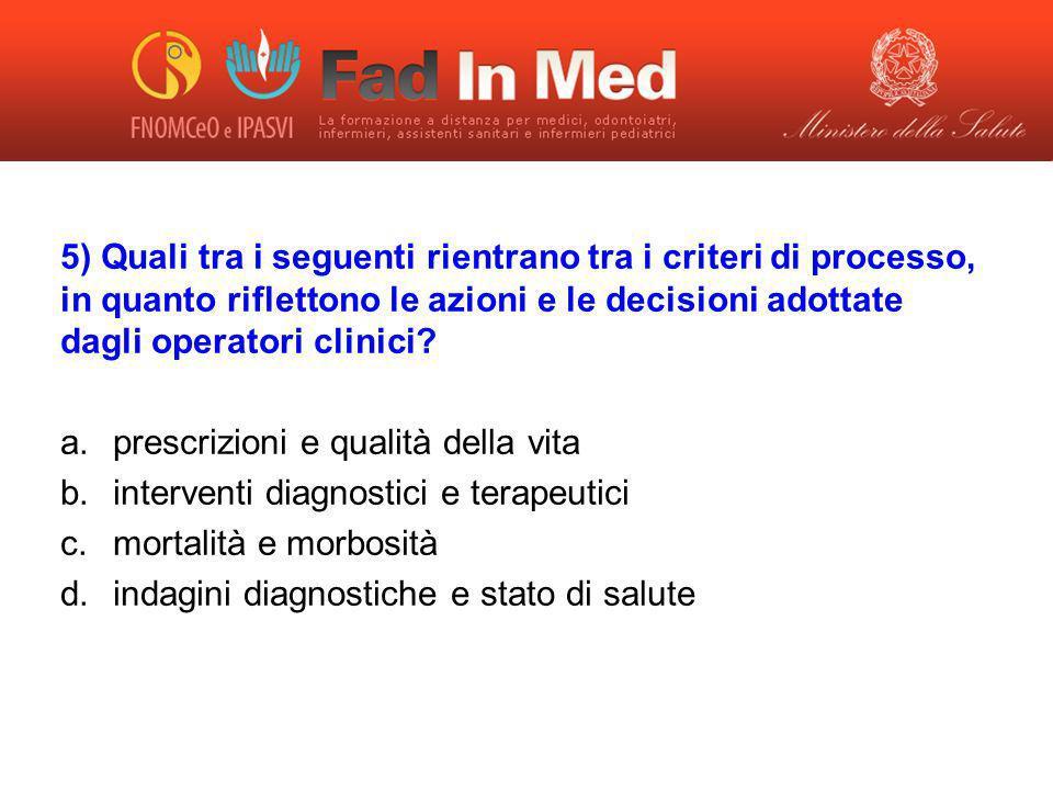 prescrizioni e qualità della vita interventi diagnostici e terapeutici