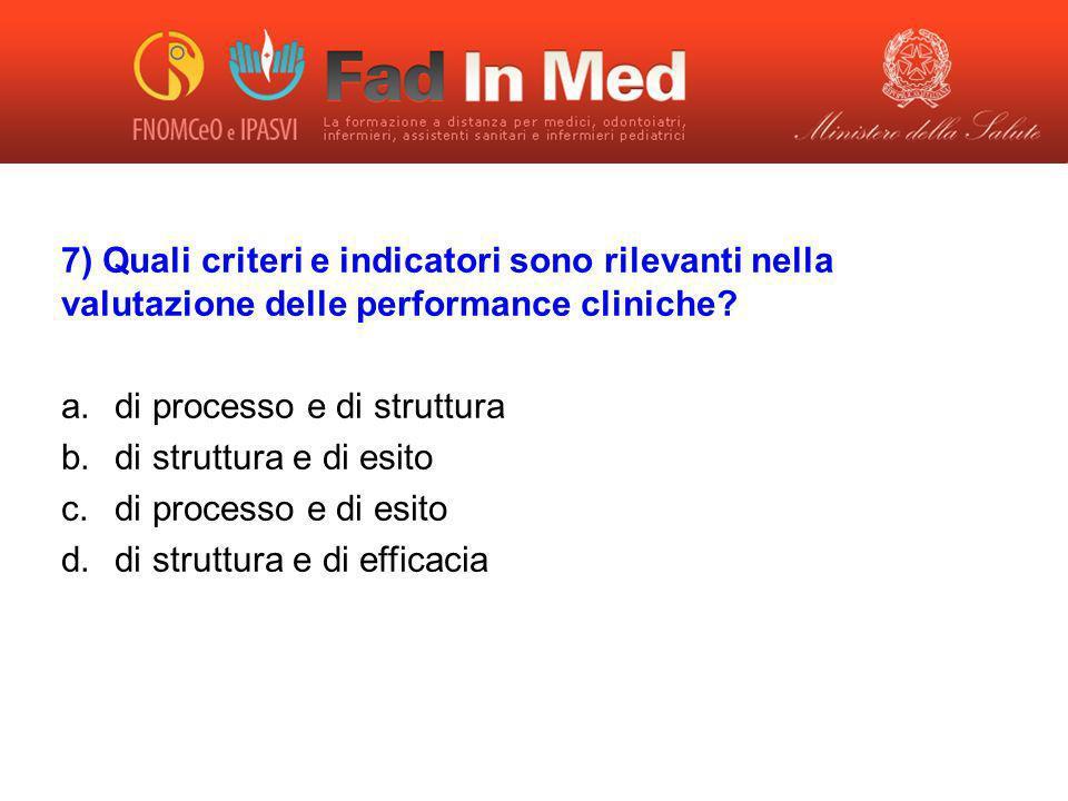 di processo e di struttura di struttura e di esito