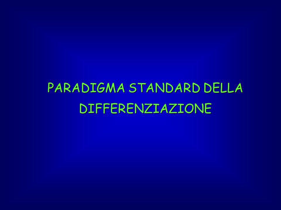 PARADIGMA STANDARD DELLA DIFFERENZIAZIONE