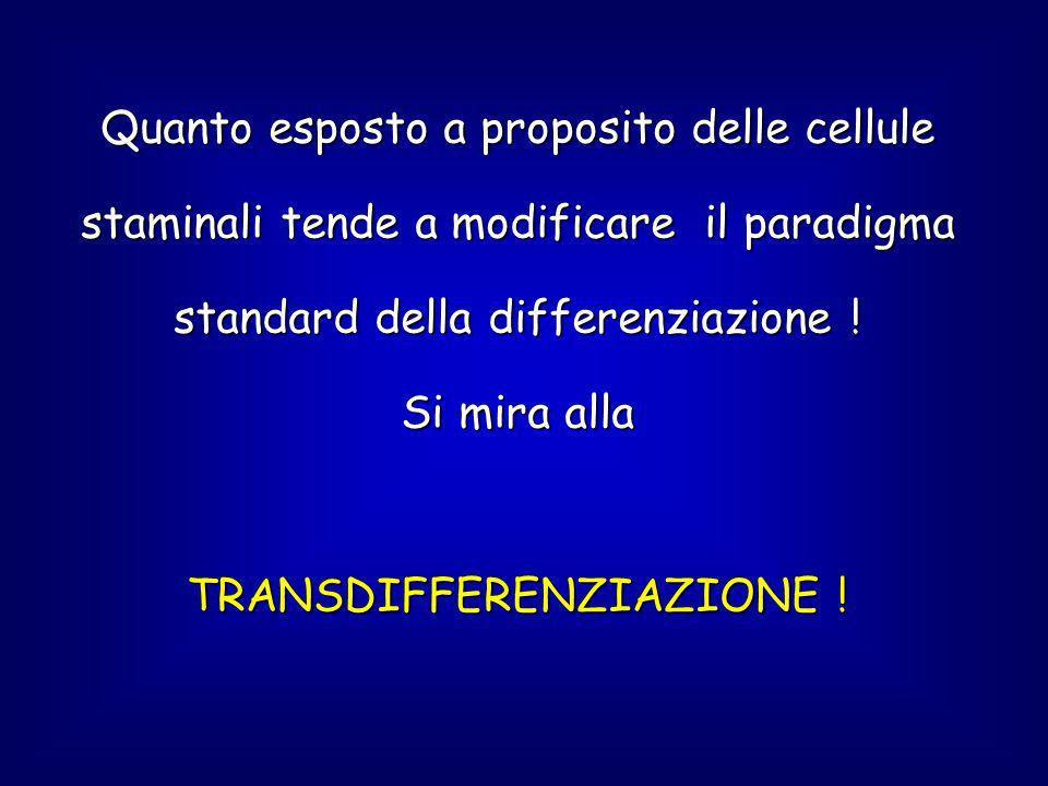 TRANSDIFFERENZIAZIONE !