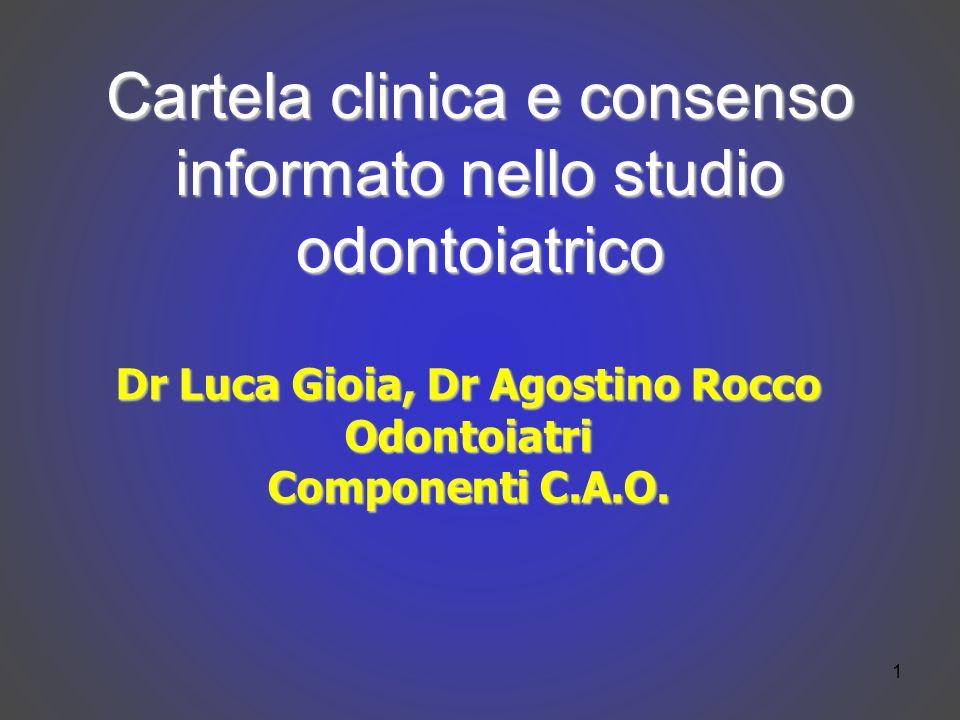 Dr Luca Gioia, Dr Agostino Rocco
