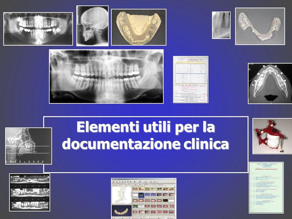Elementi utili per la documentazione clinica