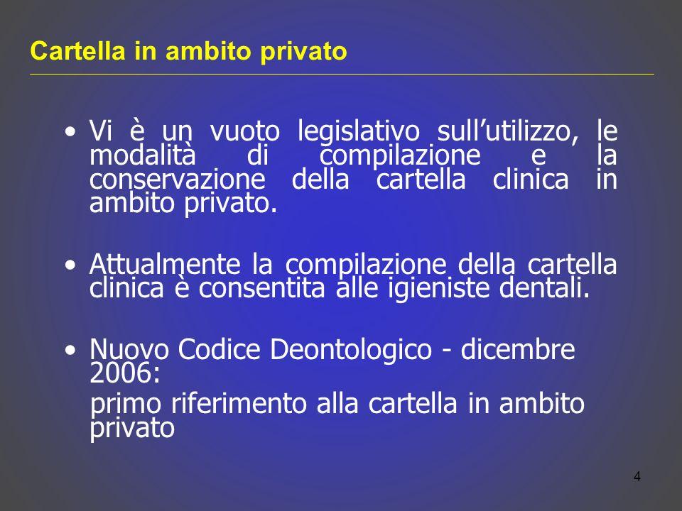 Nuovo Codice Deontologico - dicembre 2006:
