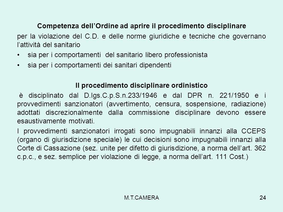 Competenza dell'Ordine ad aprire il procedimento disciplinare