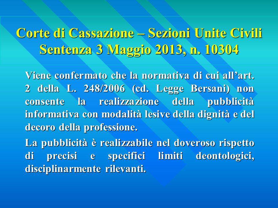 Corte di Cassazione – Sezioni Unite Civili Sentenza 3 Maggio 2013, n