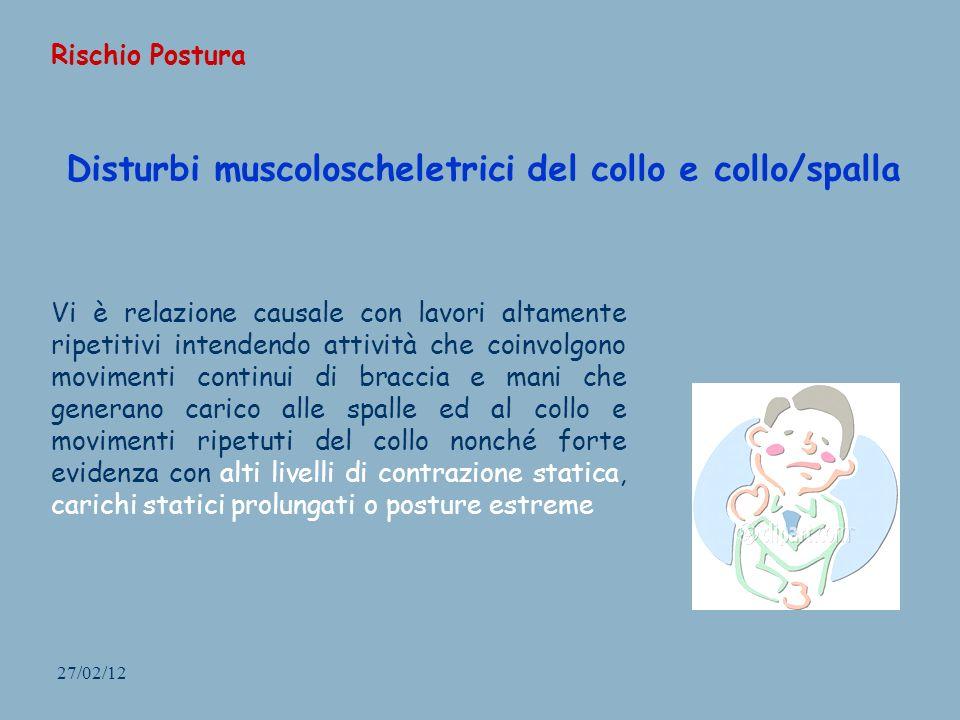 Disturbi muscoloscheletrici del collo e collo/spalla