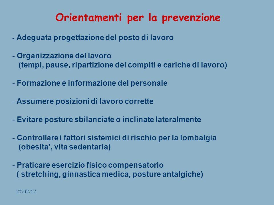 Orientamenti per la prevenzione
