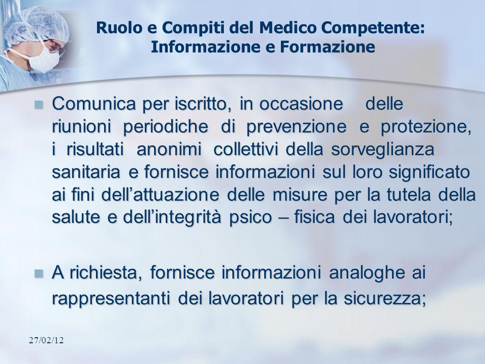 Ruolo e Compiti del Medico Competente: Informazione e Formazione